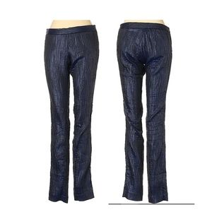 Catherine Malandrino sz 2 navy blue textured pants